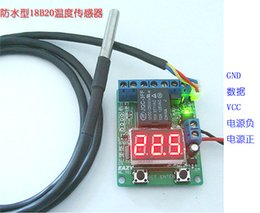 Wholesale Voltage Probes - Wholesale-Waterproof DS18B20 temperature probe voltage relay thermostat smart thermostat timer switch