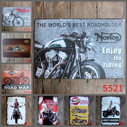 Wholesale Vintage Tin Motorcycle - 2016 20*30cm the world best motorcycle rider vintage retro Tin Sign Coffee Shop Bar Restaurant Wall Art decoration Bar Metal Paintings