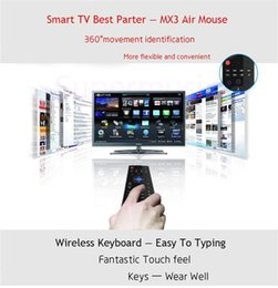 Wholesale Flying Laser - X8 Air Fly Mouse MX3 2.4GHz Wireless Keyboard Remote Control Somatosensory for MX3 MXQ M8 M8S Android TV Box Smart box 10pcs Free Shipping