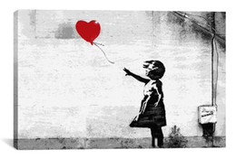 Wholesale Oil Painting Canvas Abstract Huge - 2014 New product HUGE BANKSY There Is Always Hope,Oil Wall Painting Abstract Wall Art Decor Oil Painting On Canvas