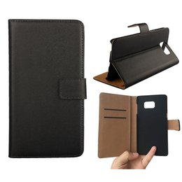 Wholesale Galaxy Note Stand Case - For Galaxy Note5   S6 edge plus Flip Real Genuine Leather Wallet Credit Card Holder Stand Case Cover For Samsung Note 5