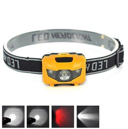Wholesale Portable Strobe - High low strobe owl paragraph 170 LED headlight adjustment outdoor hiking camping headlamp equipment Headlamps Mini Portable Headlamp B0035