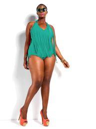 Wholesale Tassel Monokini - 2015 Swimwear Plus Size Women Sexy One Piece Swimsuit Fringe ST. TROPEZ Bikini Halter Bathing Suit Padded Monokini