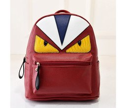Wholesale Bird Appliques - Korean New Designer Unique Little Monster Backpack Women Cute Bird Face Backpack School Bags For Women