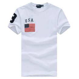 Wholesale Classic Polo Shirts For Men - Hot 2017 High quality cotton new O-neck short sleeve t-shirt Fahion brand men T-shirts casual Flag for sport men polo T-shirt