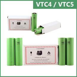 Wholesale Wholesale Trustfire Batteries - US18650 VTC4 VTC5 battery for e cigarette mod e cig 18650 3.7V 2100mAh 2600mAh vs Trustfire 18650 best fire battery