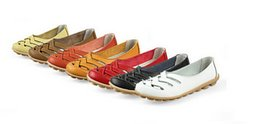 Wholesale Leather Work Shoes Ladies - Women Spring Summer Sandals Fashion Genuine Leather Hollow Out take Working Cow Muscle Ladies Flats Shoes