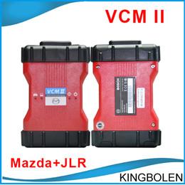 Wholesale vcm scanner - High Quality Best Selling VCM II Mazda & JLR VCM2 2 in 1 Mazda Jaguar Land Rover Diagnostic Scanner V96 V141 DHL Post Free Shipping