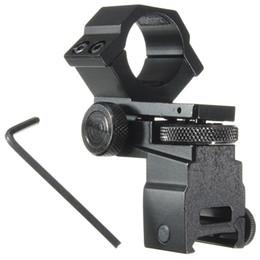 Wholesale Tactical Laser Sight Sale - Hot Sale 25.4mm Ring Tactical Laser Sight Flashlight Rifle Scope Mount Adjustable Elevation Windage for 20mm Rail System