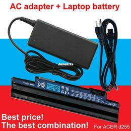 Wholesale Aspire One 722 Battery - Powerful 1pcs Adapter+1pcs laptop battery For ACER Aspire One 522 D255 722 AOD260 D255E D257 D257E D260 D270 E100 AL10A31 AL10B31 AL10G31