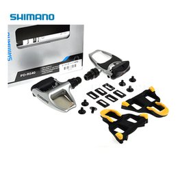 Wholesale Spd Pedal Self Lock - SHIMANO PD-R540 Chrome-moly & Aluminum Road Bike Bicycle Cycling Wide Platform Pedals Includ SPD SL SM-SH11 Self-locking Cleats