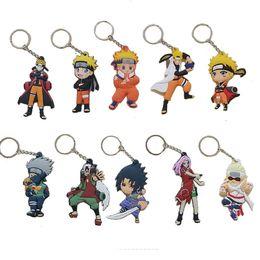 Wholesale Action Man Car - New Naruto Keychain Plastic Naruto Uzumaki Sakura Action Figures Keychain Key Rings Fashion Jewelry Gift 170887