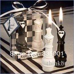 Wholesale Chess Wedding Favors - Wedding favor--King and Queen Chess Piece Candle Favors 052828