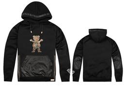 Wholesale Cheap Character Hoodies - Wholesale-2015 Hot Sale Leather GRIZZLY GRIP x Diamond Supply Co hoodie sweatshirt fashion hip hop sweatshirt cheap men hooded sportswear