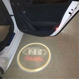 Wholesale White Interior Doors - 4Case for MG Case for Emgrand Car Logo LED Interior Lights Welcome Door Ghost Shadow Lamps 12V Warning lights