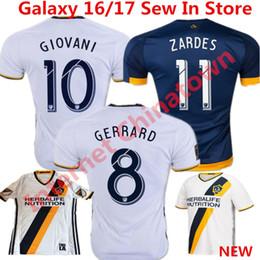 Wholesale Galaxy S Waterproof - Top Quality 2016 Soccer Jersey Los Angeles Galaxy camisetas de futbol 2017 Steven Gerrard Donovan Keane Beckham Football Shirts Home New kit