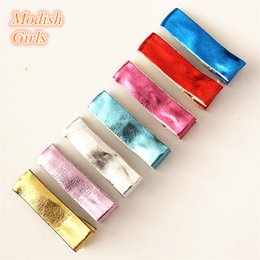 Wholesale Diy Hair Clips Covers - Hair Clip 3 .5cm Pu Leather Covered Hair Clips For Diy Headwear Synthetic Leather Children Hairpins Just Clips 100pcs  Lot Hair Accessories