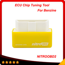 Wholesale vw cars - Plug and Drive NitroOBD2 Performance Chip Tuning Box for Benzine Cars NitroOBD2 Chip Tuning Box Free Shipping