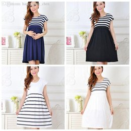 Wholesale Maternity Dress Stripe - Wholesale-Summer Casual Cotton Plus Size Maternity Clothes Maternity Dress Ledies Stripe Pregnant Women Dresses Vestido Amarelo CCC370