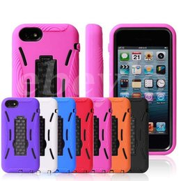 Wholesale Silicone Iphone5c Cases - for iphone 5C Shock Proof Impact Hybrid Stand Silicone cellphone Hard Case Phone Cover Skin for iPhone 5C iPhone5C 100 up