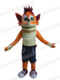 Wholesale Fox Fancy Dress - AM9217 Fox mascot costume Fur mascot suit animal mascot outfit adult fancy dress