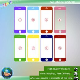 Wholesale Colorful Iphone Replacement Screens - A quality Colorful Front Outer Touch Screen Glass Lens Replacement for iPhone 5 5S 5C Free Shipping via DHL