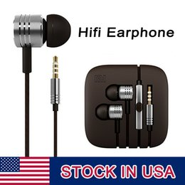 Wholesale Free Music Android - Xiaomi HIFI Headphones 3.5mm Noise Cancelling Earphones Headphone Music With Microphone For Xiaomi SamSung Android DHL Free ship