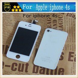 Wholesale Iphone 4s Replacement Screens - For Apple Iphone 4S LCD Touch Screen Digitizer Display Panel Glass Assembly Part Replacement Lcd For 4s White