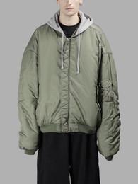 куртка негабаритных мужчин Скидка Новые последние женщины мужчины двусторонняя одежда Vetements негабаритных Джастин Бибер толстовки пальто AM1 Ma1 бомбардировщик куртка полет ветровка куртка XS-L