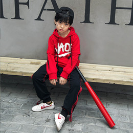 Wholesale Korean Kids Pants For Boy - Spring Autumn Korean Fashion Kids Sport Clothes For Boys Girls Hip Hop Streetwear Hoodie Jacket Pants Two Pieces Outfits Set