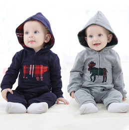 Wholesale Wholesale Baby Clothings - Baby Clothes Boys Suits Boys Clothings Pure Cotton Fashion 3 pcs lot Long Hot Sale Free Shipping