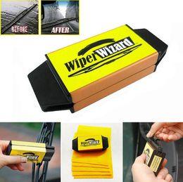 Wholesale Car Wipers Blades - Car Van Wiper Wizard Windshield Wiper Blade Restorer Cleaner Car Wiper Cleaning Brush Windshield Scratch Restorer OOA356