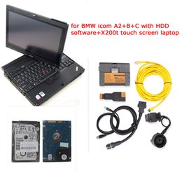 Wholesale Bmw Icom Laptop - 2017 top for bmw icom a2 with software for bmw isis isid v2017.07 with latest Expert Mode with x200t touch screen laptop