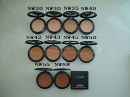Crema reparadora online-Maquillaje en polvo Crema para la cara Fix Face Powder MC Foundation Powder 15g NW20, NW30, NW35, NW40, NW42, NW43, NW45, NW50, NW55, NW58 Envío de DHL.