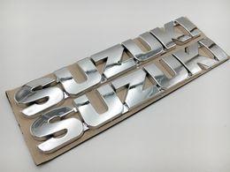Wholesale Decal Suzuki - 153mm 3D Silver Fuel Gas Tank Fairing Emblem Badge Decal Sticker for Suzuki Motorcycles Automobiles