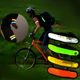Wholesale Led Flashing Armband - Reflective Lattice LED Flashing Arm Band Wrist Strap Armband for Outdoor Sports Safety Night Activity Party Cheer