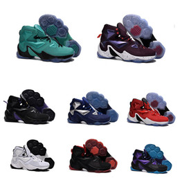 Wholesale Career Tops New - 2017 New LeBRon 13 soldier Big dunk James Top Quailty lebron basketball shoes High Quality Retro Rainbow james LBJ 13 Sports