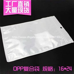 Wholesale Plastic Bags For Jewelry - Clear + White Pearl Plastic Poly OPP Packing Zipper Zip lock Retail Packages Jewelry food PVC plastic bag 10*18cm 12*15cm 7.5*12cm