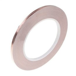 Wholesale Foil Tapes - (5 pieces lot) New Single Conductive COPPER FOIL TAPE 5MM X 30M with High Quality