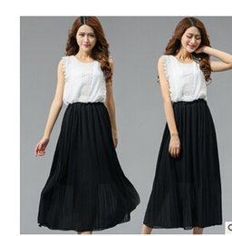 Wholesale Tall Women S Dresses - Europe and the United States snow spinning dress long skirt of tall waist dresses free shipping
