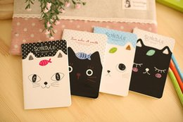 Wholesale Paper Note Books - Korean stationery cat kitty Notebook Notepad Memo memo pads notepad book Diary journal note booklet binder Wholesale lined pages 12*8.5cm