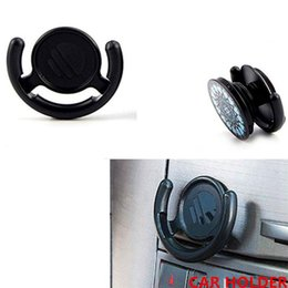 Wholesale bag hook for wall - Multifunction Phone Holder Monut Clip Car Wall Office Home Hook for iPhone Samsung Cellphone Tablets with Retail Bag Black White