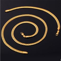 Echtes gold für männer online-Neue Trendy 18 Karat Stempel Halskette Set Männer Schmuck Großhandel 18 Karat Reales Gold Überzogene Kette Halskette Armband Afrikanischen Schmuck Sets S374