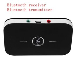Wholesale Usb Bluetooth Music Receiver Adapter - 2 in 1 3.5mm Wireless Bluetooth Receiver Bluetooth Transmitter Audio Music Adapter Bluetooth 4.1 Receiver For Speaker MP3 free shipping