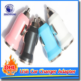 Wholesale Universal Power Supply Au - Dual Port Universal USB 2.0 Car Charger 1 A Adapter Power Supply For iPhone 5 4S Samsung HTC