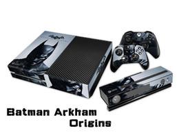Отличительные знаки контроллера xbox онлайн-Batman Arkham Origins Защитная наклейка / наклейки для xbox одной консоли + 2 контроллера + Kinect Skin
