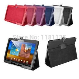 2019 pestaña de soporte Flip PU de cuero Folio Holder caso cubierta de la piel soporte para Samsung Galaxy Tab 4 10.1 T530 bolsa monedero bolsa protector rebajas pestaña de soporte