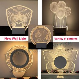 Wholesale Unique Wall Lamps - Minimalist Modern Led Wall Light Variety of Styles Unique design Fashion texture Acrylic Wall Lamp Creative Living Room Bedroom Lamp