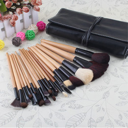 Wholesale Deluxe Makeup Brush Set - 2014 New Brand Brown Makeup Deluxe Brushes Set 24Pcs Kit With Pouch Bag Case set # 11985