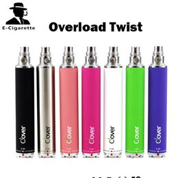 Wholesale Ego Twist Variable Voltage Kit - Overload Cover Twist Battery 2600mah Long Lasting Variable Voltage Vaporizer E Cigarette Battery 510 Thread VS Ijust 2 Ego One Kit